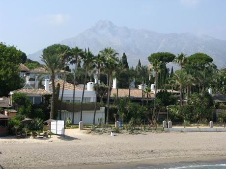 View of Marbella and La Concha from the Marbella Club pier