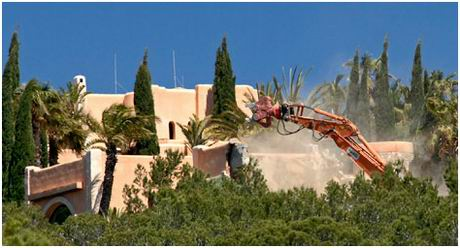 Demolition work begins on lavish Ibizan villa
