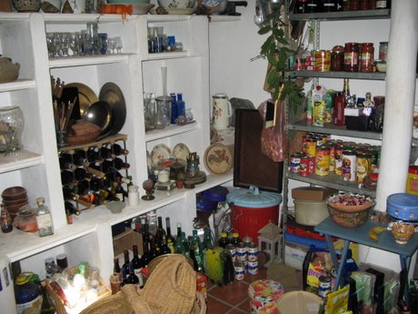 A well-stocked, exceptionally cool larder