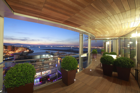 View from Taylor Woodrow's Tradewinds development in Gibraltar
