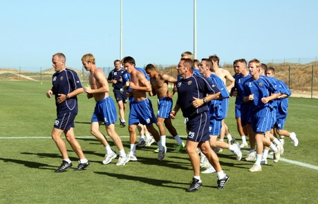 Shrewsbury Town Football Club players pictured during pre-season warm-weather training at Desert Springs in the Almeria region of south-east Spain. Picture courtesy simplyoverseas.com