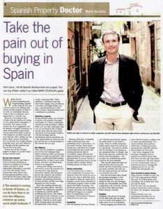 Sunday Times Spanish Property Doctor column