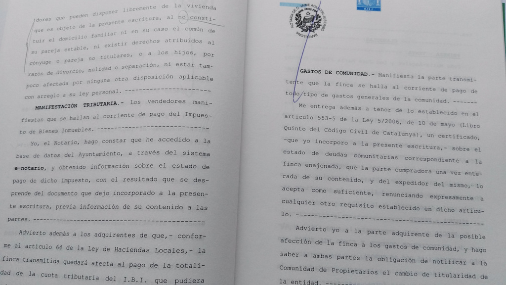 spanish property title deed escritura