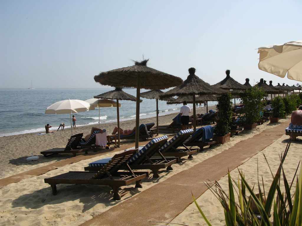 marbella club beach