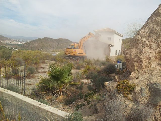 Demolition illegal home in cantoria andalucia