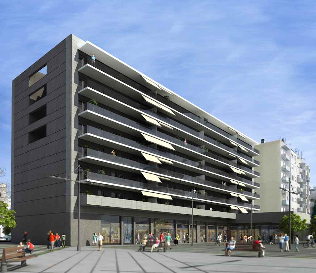 Render/CGI of the Corp new development in Barcelona