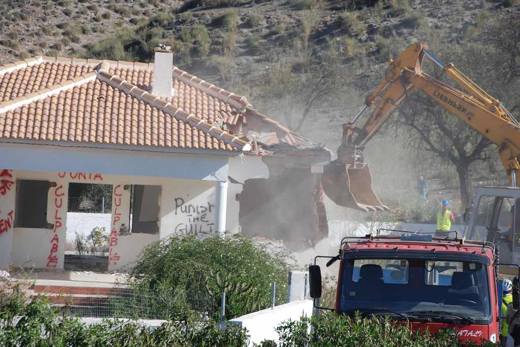 demolition illegal homes in andalusia andalucia spain