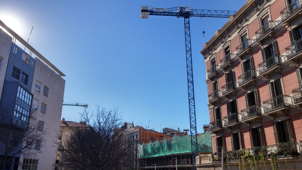 Building new homes in Barcelona, capital of Catalonia