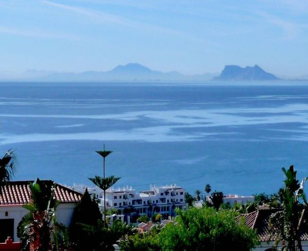 Costa del Sol, views of Gibraltar.