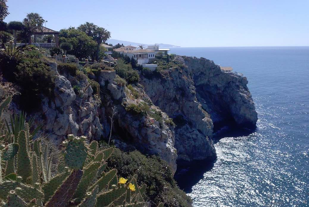 Views of cliffs near Herradura, Andalusia