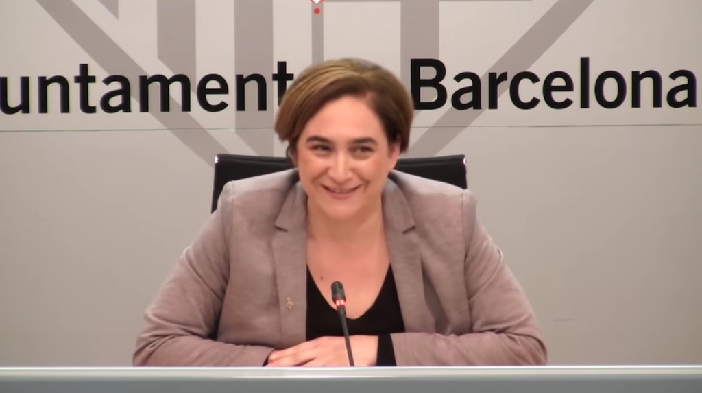 Ada Colau, Mayoress of Barcelona, warns of a speculative housing bubble in Barcelona