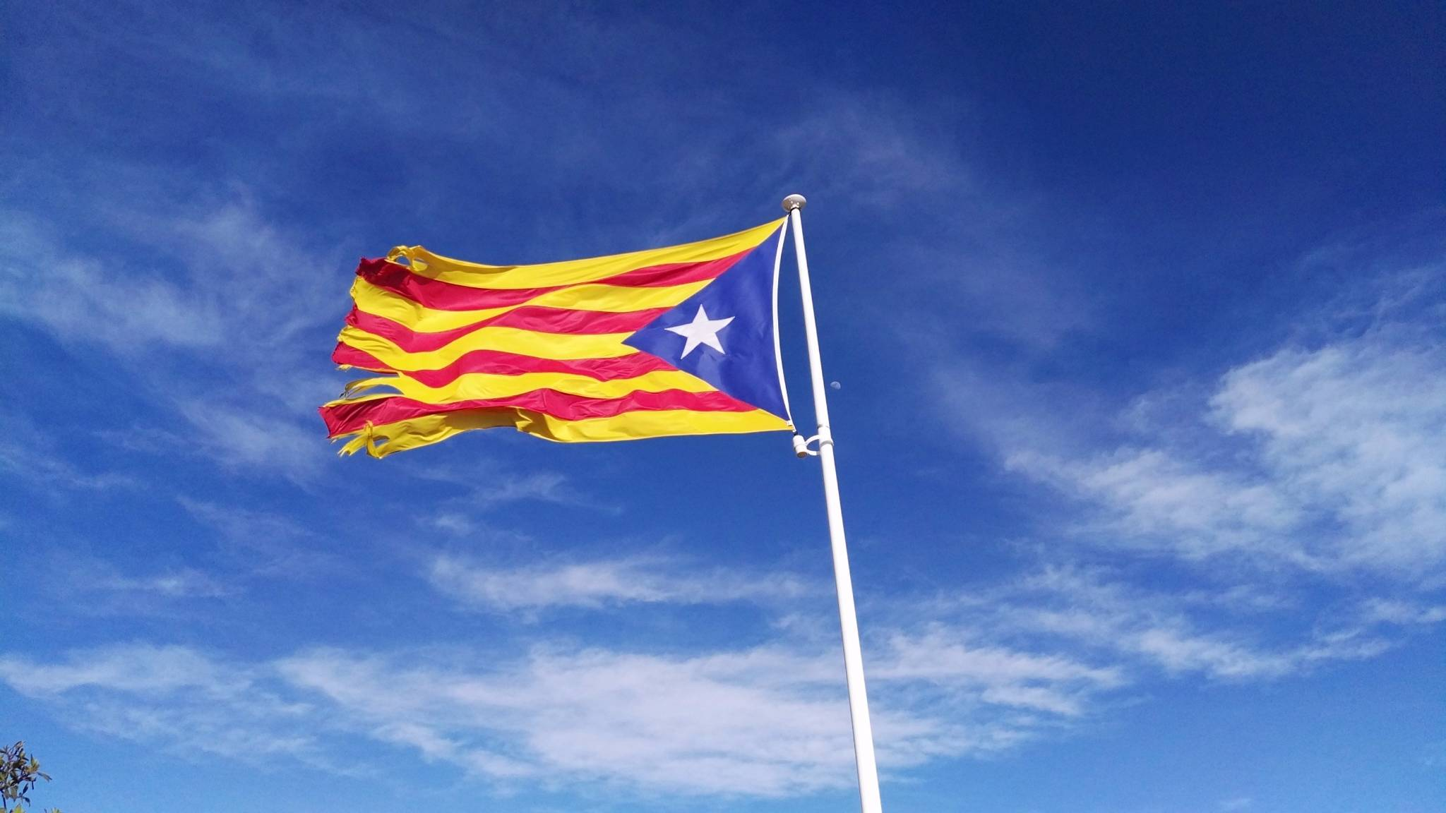Estelada - the flag of Catalan independence.