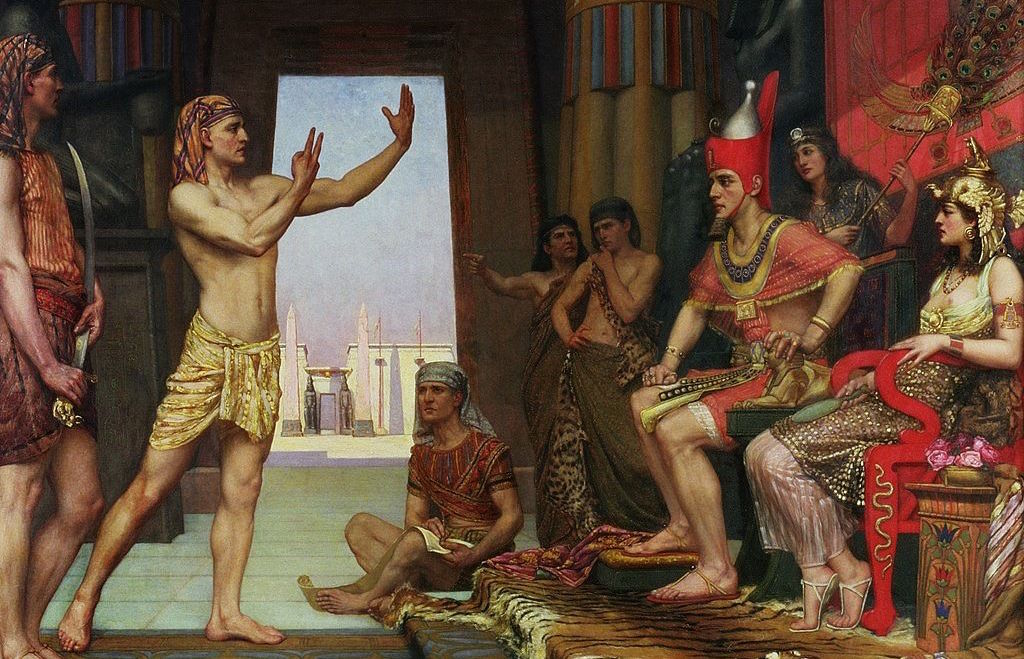 Joseph interpreting Pharaoh's dream. 1894. Reginald Arthur.