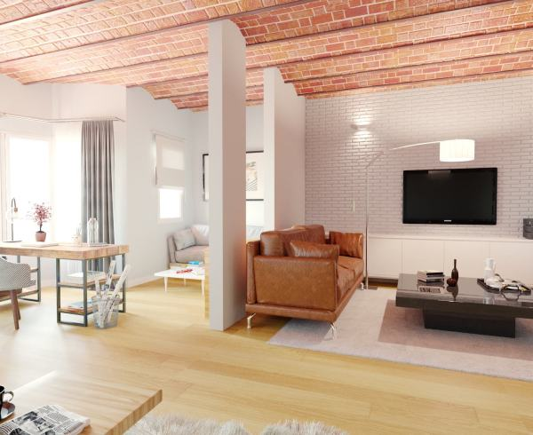 New home for sale from Lucas Fox on Calle Provença, in Barcelona's Eixample district.