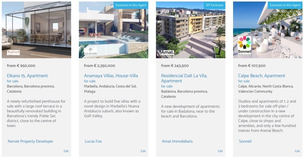spanish new developments for sale