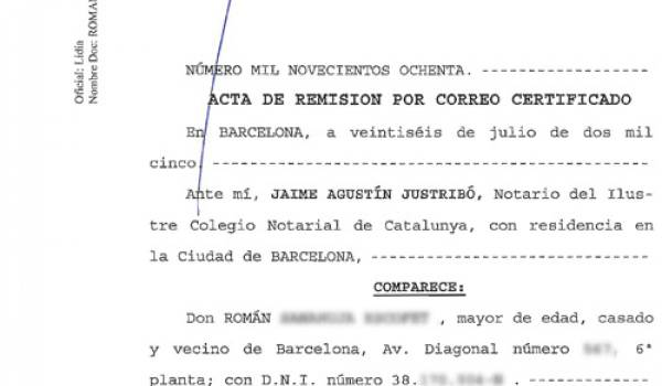 Spanish Power of Attorney (poder) document