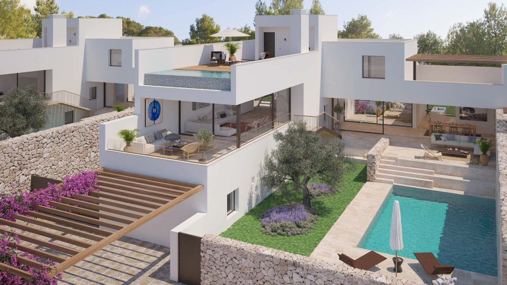 The White Angel TWA Cala Comte Ibiza new development villas for sale
