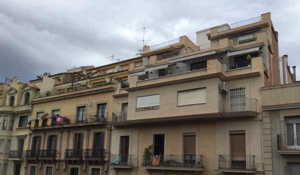 Spain is full of illegal building extensions, like these extra floors added to buildings in Barcelona