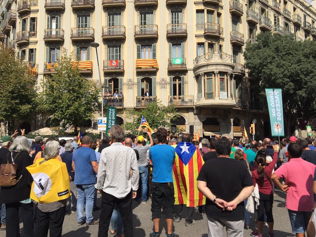 Catalan separatist rally in Barcelona