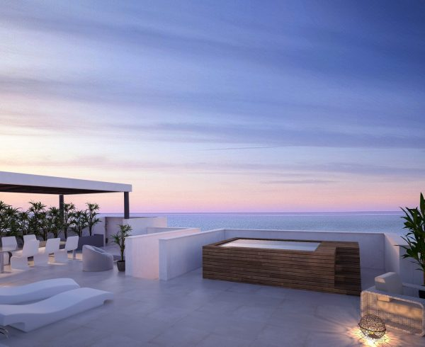 Middel View new development of apartments for sale in Estepona from AEDAS Homes. Click for more information.