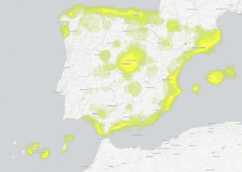 Spanish property buyer heat map
