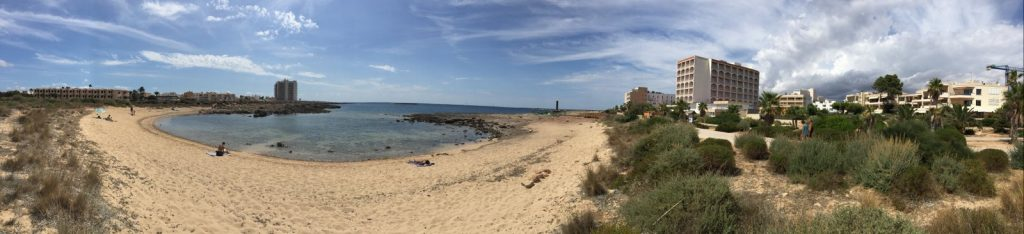 Beach in front of 5eh Colonia de Sant Jordi new development for sale mallorca