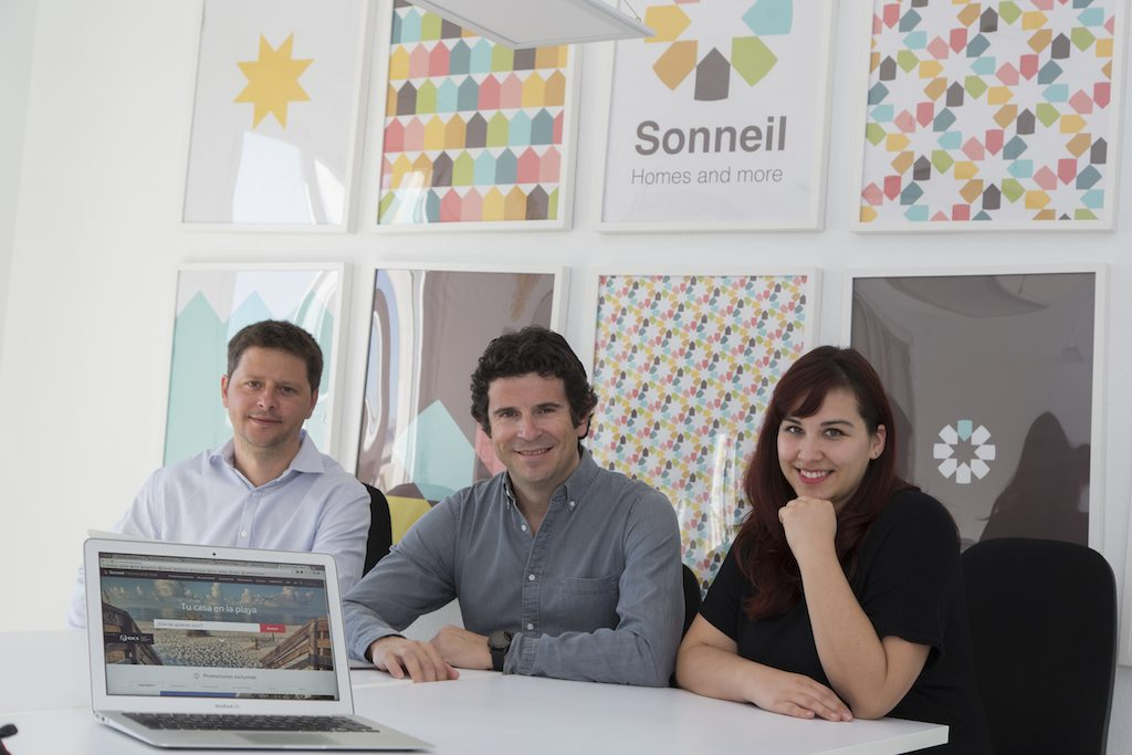 Management of Sonneil, left to right: Lionel Fenestraz, Alfredo Millá, and Nadine Thêry