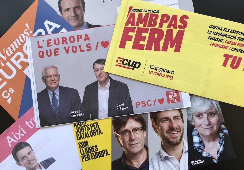 Municipal election political pamphlets in Barcelona