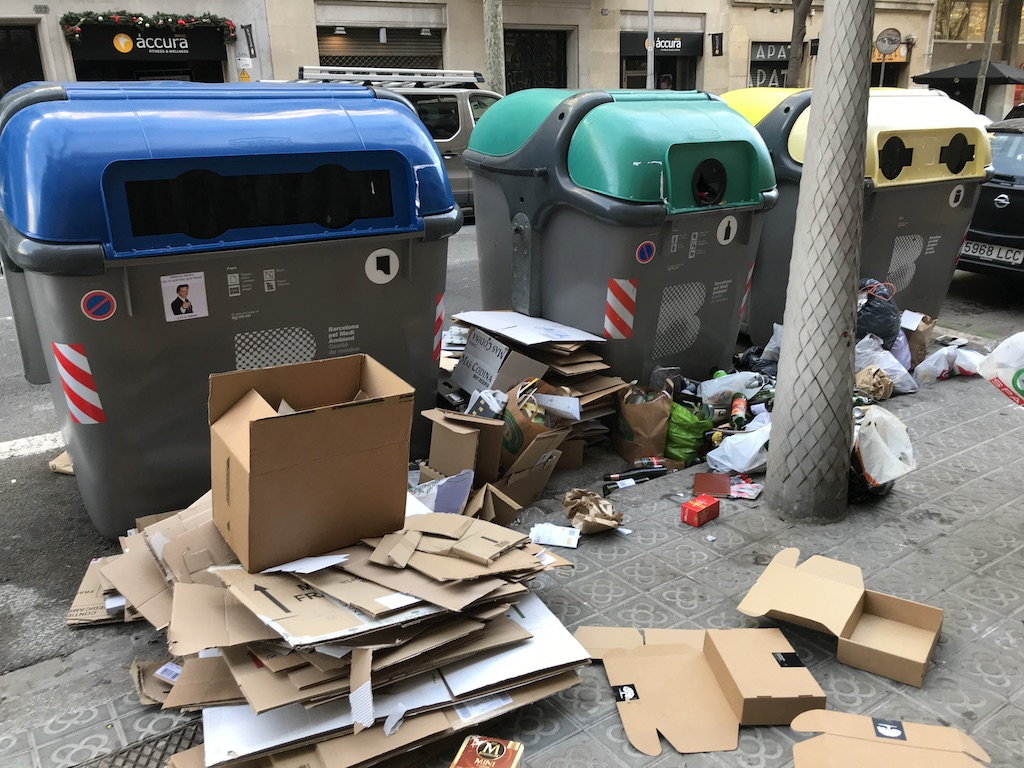 rubbish collection goes from bad to worse in barcelona under ada colau