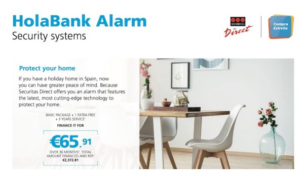 HolaBank alarm from Securitas Direct