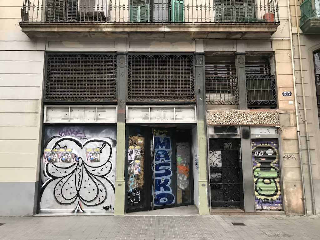 squatters in barcelona building spain