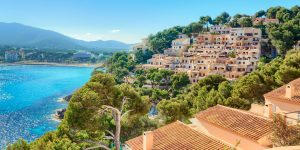 View of sea overlooking property in Mallorca.