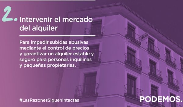 Podemos priority #2: Intervene in the rental market